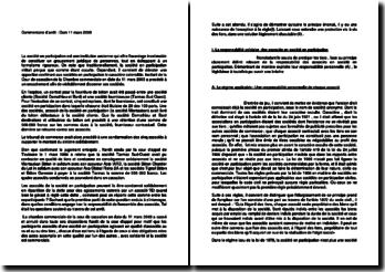 Commentaire d'arrêt de la Chambre commerciale de la Cour de cassation du 11 mars 2003 : la responsabilité solidaire des associés en société en participation
