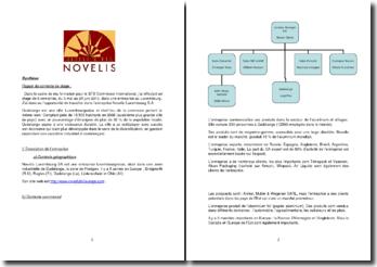 Rapport de stage effectué au sein de l'entreprise Novelis Luxembourg S.A