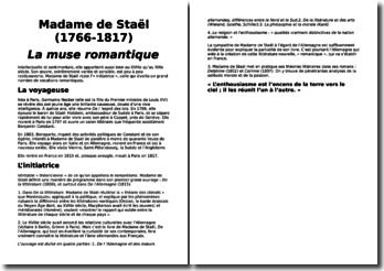 Une biographie de Madame de Staël (1766-1817) : La muse romantique