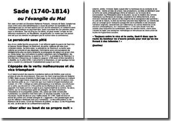 Une biographie de Sade (1740-1814) : ou l'évangile du Mal