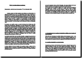 Commentaire d'arrêt de la Première Chambre civile de la Cour de cassation du 5 décembre 1995 : le régime probatoire de l'action paulienne