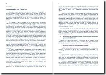 Commentaire d'arrêt de la Chambre sociale de la Cour de cassation du 8 octobre 1987 : la modification du contrat de travail