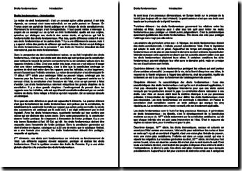 Une introduction aux droits fondamentaux en Suisse