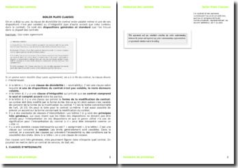 La rédaction des contrats en Suisse : Boiler Plate Clauses