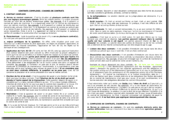 La rédaction des contrats en Suisse : contrats complexes et chaines de contrats