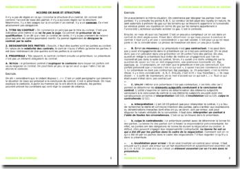 La rédaction des contrats en Suisse : l'accord de base et structure du contrat