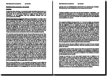 Droit suisse de la concurrence : Les accords