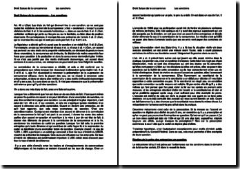 Droit suisse de la concurrence - Les sanctions