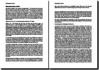 Philosophie du droit - Leibniz