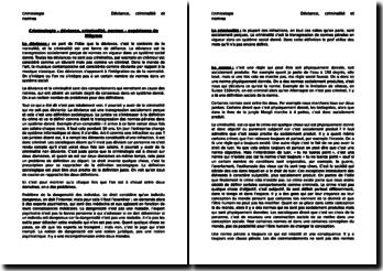 Criminologie - déviance, criminalité, normes - expérience de Milgram
