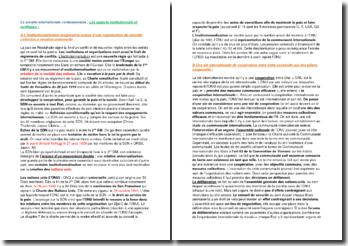 Les aspects institutionnels et juridiques de la société internationale contemporaine