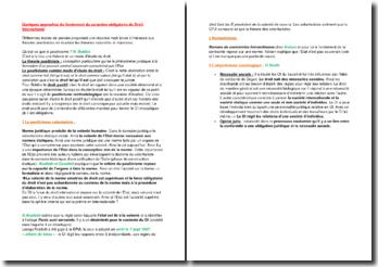 Quelques approches du fondement du caractère obligatoire du Droit International