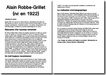 Une biographie de Alain Robbe-Grillet (né en 1922)
