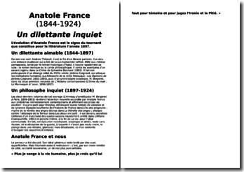 Une biographie d'Anatole France (1844-1924) : Un dilettante inquiet