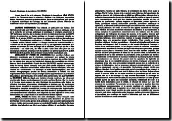 Sociologie du journalisme - Erik Neveu
