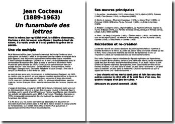 Une biographie de Jean Cocteau (1889-1963) : Un funambule des lettres