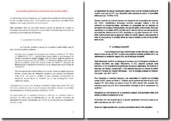Les procédures particulières de dévolution des marchés publics