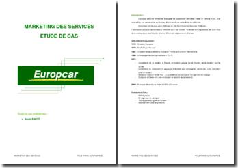 Marketing des services: Etude du cas Europcar
