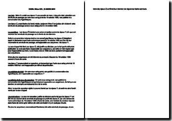 Fiche d'arrêt de la Troisième Chambre civile de la Cour de cassation du 16 mars 2011 : l'acte opposable aux acquéreurs