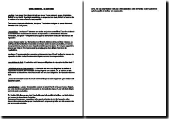 Fiche d'arrêt de la Troisième Chambre civile de la Cour de cassation du 28 juin 2006 : les obligations de l'usufruitier