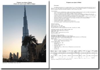 Préparer son séjour à Dubaï, 10 jours de vacances pour 2000€ de budget