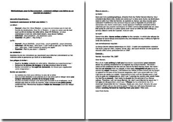 Méthodologie pour le Baccalauréat : comment rédiger une lettre ou un courriel en anglais ?