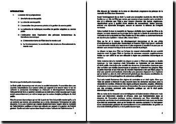 Qu'est-ce que le droit public économique au Sénégal