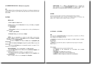 Une méthode de composition du commentaire de document