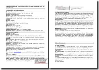 Analyse de l'unité commerciale de Carrefour (2014)