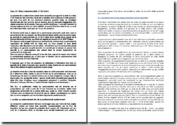 Commentaire d'arrêt de la Chambre mixte de la Cour de cassation du 2 décembre 2005 : la nature d'une sûreté réelle
