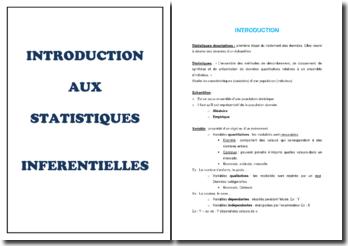 Introduction aux statistiques inférentielles