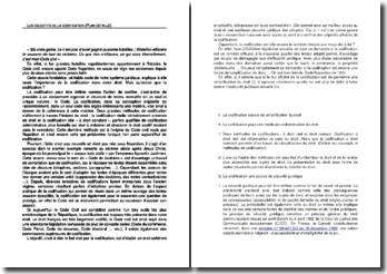 Les objectifs de la codification (plan détaillé)