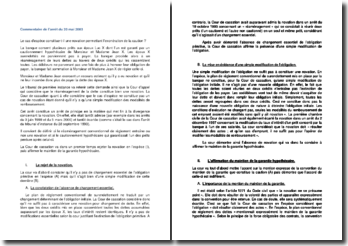 Commentaire d'arrêt de la Cour de cassation du 20 mai 2003 : l'exonération de la caution