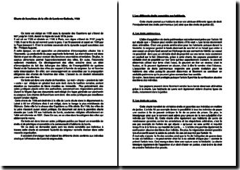 Charte de franchises de la ville de Lorris-en-Gatinais, 1155