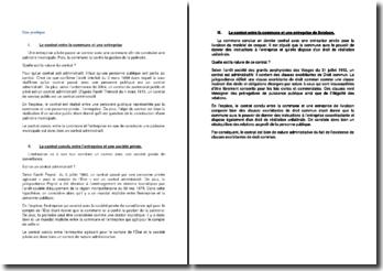 Etude de cas sur le contrat administratif