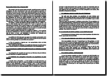 Commentaire d'arrêt de la Chambre commerciale de la Cour de cassation du 21 janvier 2014 : la qualité d'associé aux indivisaires de droits sociaux