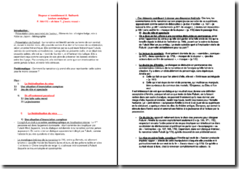 Stupeur et tremblement; Lecture analytique des P. 166-172 - A. Nothomb