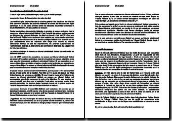 Cours de contentieux administratif (février 2014): les voies de droit