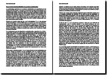 Cours de droit administratif (2014) : la procédure administrative