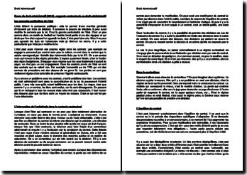 Cours de droit administratif (2014) : rapports contractuels