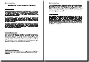 Le système d'application de la LAT à Genève