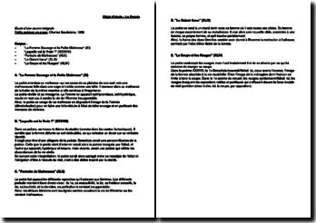 Petits poèmes en prose, Charles Baudelaire, 1869 : La Femme sauvage et la Petite Maîtresse, Laquelle est la vraie ?, Portraits de Maîtresses, Le galant tireur, La Soupe et les Nuages