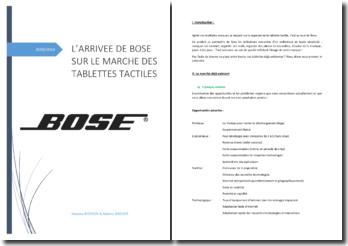 L'arrivée de Bose sur la marché des tablettes tactiles