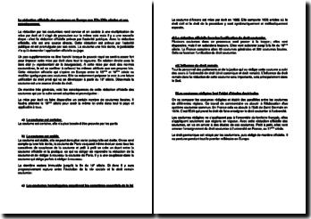 La rédaction officielle des coutumes en Europe aux XVe-XVIe siècles et ses conséquences