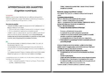 Apprentissage des quantités (cognition numérique)