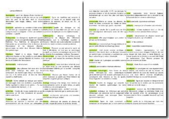 Lexique littéraire