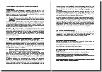 L'Acte de Médiation du 19 février 1803: structure d'état confédérale