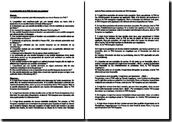 La territorialité de la TVA (14 mini cas pratiques)