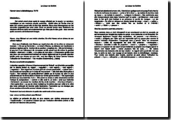 Le Liseur de Schlink - Extrait : Hannah dans la bibliothèque p. 73-75