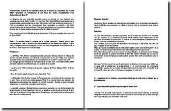 Commentaire d'arrêt de la Chambre civile de la Cours de Cassation du 3 avril 2002 : propriété de l'employeur Y sur tous les droits d'exploitation d'un dictionnaire de Mme X